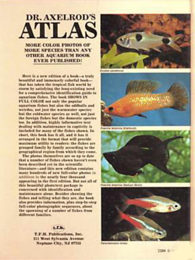 Dr. Axelrod's Atlas of Freshwater Aquarium Fishes