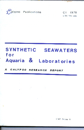 Synthetic Seawaters for Aquaria and Laboratories